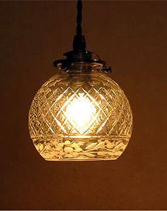 照明【アンティーク切り子風ガラスペンダントライト1灯】 Retro Lighting, Cool Lighting, Interior Lighting, Lighting Design, Pendant Lighting, Japanese Interior, Candle Lanterns, Lampshades, Fused Glass