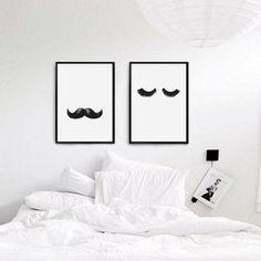 Quarto pequeno e decoração minimalista - estilo clean