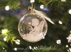 Anleitung Weihnachtskugel basteln, Weihnachtsideen, Plastikkugel, Engel, Stampin up Zauberhafte Zierde, Sylwia, stempeleinfach, nrw