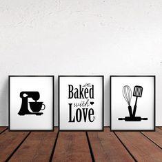ideas for kitchen wall printables decor Kitchen Wall Art, Diy Kitchen, Kitchen Ideas, Diy Wall Art, Wall Decor, Diy Art, Bedroom Decor, Bakery Sign, Bakery Decor
