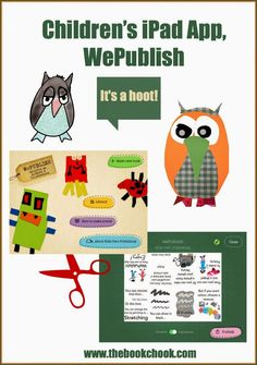 Children's iPad #App, WePublish - kids can create a little digital or printed booklet. So cute! #edtech