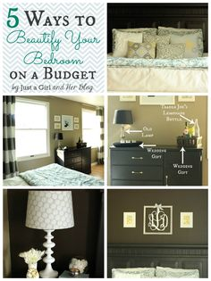 5 Ways to Beautify Your Bedroom on a Budget by Just a Girl and Her Blog