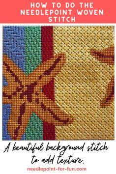 Needlepoint Stitches, Needlepoint Patterns, Needlepoint Canvases, Cross Stitch Patterns, Needlework, Tent Stitch, Tapestry Kits, Machine Embroidery Projects, Hardanger Embroidery