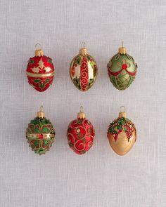 4 Glass Mini Egg Ornament~Christmas Pastel Pink~Purple~Green~Holiday~Tree~NEW