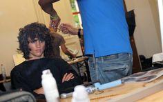 "pretty-distracting: "" Simon Nessman backstage Galliano. "" π。£'Ж"