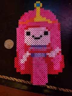 Princess Bubblegum - Adventure Time Perler Bead Sprite by 8BitCraftsByLynn