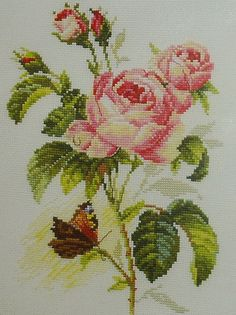 NEW Unopened Counted Cross Stitch Kit. Rose and by tanyaHPSrus