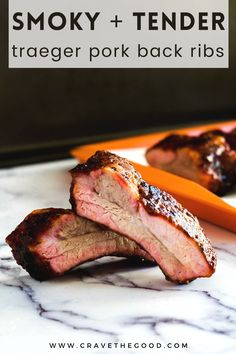 Traeger Recipes, Pork Back Ribs, Ribs On Grill, Pork Rib Recipes, Grill Recipes, Easy Baked Potato, Smoked Pork Ribs, Traeger Smoker