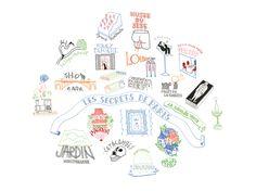 Secrets de Paris - Illustration réalisée par La racaille de Shangaï - Numérotée et signée - 40 x 30 cm - Tirage limité à 30 ex. - En exclusivité chez L'illustre Boutique