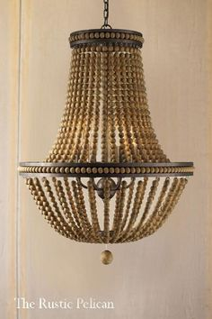 Farmhouse Lighting Design Tips Now is the perfect to start thinking about redecorating your farm home's interior. Wire Pendant Light, Farmhouse Pendant Lighting, Farmhouse Chandelier, Pendant Light Fixtures, Rustic Lighting, Modern Lighting, Coastal Chandelier, Beaded Chandelier, Chandelier Pendant Lights