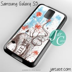 sitting on elephant Phone case for samsung galaxy S3/S4/S5