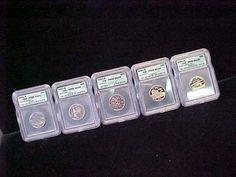 2001 s Proof State Quarter Set 5 Coins ICG PR69 DCAM NC RI NY VT KY   eBay