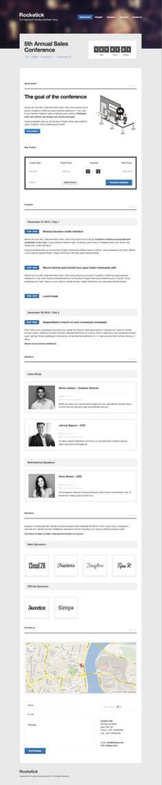Rocketick Responsive One Page Event Theme