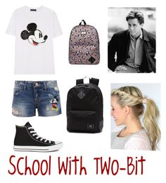 """""""School with Two-Bit"""" by ponyboysgirlfriend ❤ liked on Polyvore"""