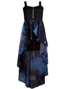 dress galaxy dress blue zip up black corset wannabe prom homecoming casual. I WANT ITTTTTTTT Pretty Outfits, Pretty Dresses, Beautiful Dresses, Cool Outfits, Dress Skirt, Dress Up, Buy Dress, Chiffon Skirt, Galaxy Outfit
