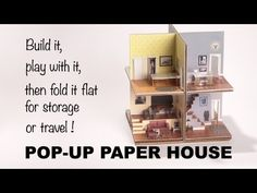 Pop-up Paper House: printable template or boxed kit