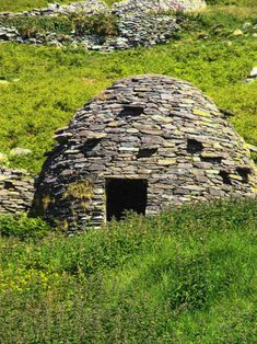 Beehive houses served as accommodation for monks, farmers & animals, Dingle, Ireland