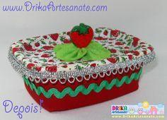 Artesanato em tecido: Pote de margarina decorado   Drika Artesanato - O seu Blog de Artesanato.