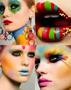 Candy lips and sweet make up - By duo Gail Hadani (photography) and Paul Innis (make up artist) - page of the Bobbi Brown makeup book