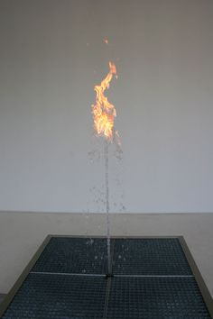 Mind-Boggling Flame Dances Atop a Water Fountain - My Modern Metropolis