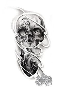 Sketch Tattoo Design, Skull Tattoo Design, Skull Tattoos, Body Tattoos, Tattoo Sketches, Tattoo Designs, African Drawings, Tattoo Caveira, Luna Tattoo