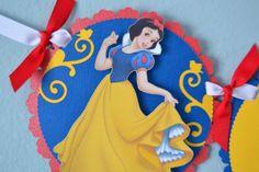 Snow White Birthday Banner by MemoriesBlossom on Etsy