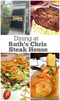 A review of the Dining Experience at Ruth's Chris Steak House- their 50th anniversary this year of being in business!: