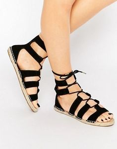 0a383527a94 New Look Lace Up Espadrille Sandal Lace Up Espadrille Sandals