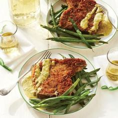 Homemade Shake-and-Bake Jackfruit with Mustard Sauce |This recipe calls for  breaded pork chops, going to try Jackfruit instead. Serve with homemade mustard sauce and green beans.