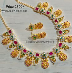 Gold Designs, Gold Earrings Designs, Gold Hoop Earrings, Necklace Designs, Gold Jewellery, Beaded Jewelry, Necklace Set, Gold Necklace, Boys Kurta