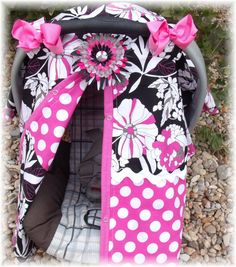 Hairbows Flower Clip Baby Car Seat Cover by fashionfairytales, $39.99