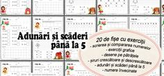 ADUNĂRI și SCĂDERI până la 5 Math For Kids, Periodic Table, Author, School, Blog, Periodic Table Chart, Periotic Table, Writers, Blogging