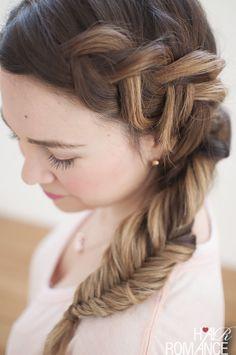Dream hair - Combo Dutch - fishtail side braid tutorial