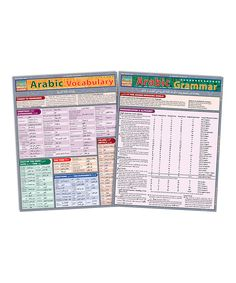 Loving this Arabic Laminated Reference Sheet Set on #zulily! #zulilyfinds