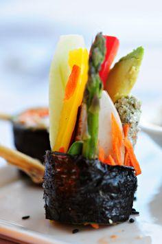 Raw sushi at Bliss restaurant. #sushi #rawfood