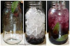Blackberry Sage Flavored Water(subtle, refreshing flavor). Add sage leaves to jar and bruise with a muddler. Add blackberries; press and twist with muddler to release their juices. Fill jar with ice cubes, add water to the top, stir, cover and refrigerate