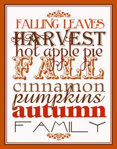 Cute fall printable