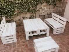 mesa sillon pallets