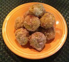 Vegan Pumpkin Doughnut Holes, get the recipe here: http://www.peta.org/living/vegetarian-living/vegan-pumpkin-doughnut-holes.aspx #yum #fall #pumpkinrecipes