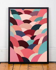 Abstract art print Minimalist art print by ShopTempsModernes