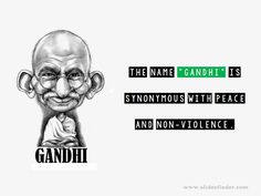 The name #Gandhi is the synonymous with #peace and non-violence Ppt Presentation Slides, Professional Powerpoint Presentation, Online Presentation, Presentation Software, Mk Gandhi, Mahatma Gandhi Quotes, Laugh At Yourself, Finding Yourself, Motivational Quotes