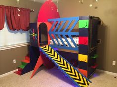 Best Buzz Lightyear Room Complete With Rocket Bunk Bed Toy 400 x 300