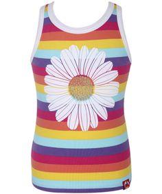 Danefæ gorgeous colorful striped top with daisy. danefae.en.emilea.be