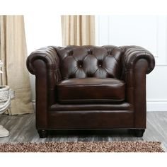 @Overstock.com - Abbyson Living Tuscan Premium Italian Leather Armchair - Crafted of durable, high-grade Italian leather that is both soft and supple, this collection provides both comfort and class with its sophisticated styling and tufted old world charm. http://www.overstock.com/Home-Garden/Abbyson-Living-Tuscan-Premium-Italian-Leather-Armchair/8230102/product.html?CID=214117 $1,099.99