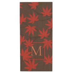 Personalized coasters coaster home gifts ideas decor special modern monogram maple leaf wood usb flash drive negle Images