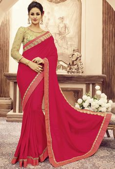Pink Pure Silk Designer Saree #nikvik #usa #designer #australia #canada #freeshipping #wedding