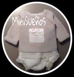 Nuevo MINISUEÑOS con braguita de algodón flocado y chaquetita tejida a mano http://www.xn--sueosdecarlota-snb.com/