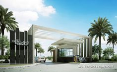 Image result for entrance gate with guard house