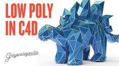 Cinema 4D Tutorial - Make A Low Poly Dino In Cinema 4D