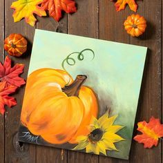 Learn How to Paint with Plaid - articles, videos, and other educational resources Fall Canvas Painting, Autumn Painting, Autumn Art, Diy Painting, Painting & Drawing, Fall Paintings, Tole Painting, Painting Tutorials, Halloween Canvas